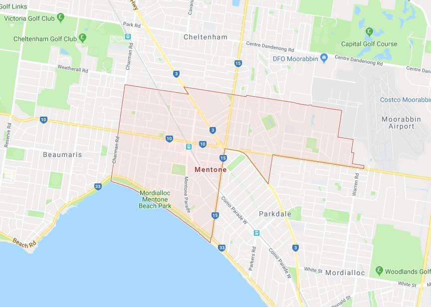 electrician mentone map radius
